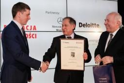 Szymon Łodyga (Wave Catamarans), Włodzimierz Abkowicz, prof. Stefan Domek  /fot.: Świat Biznesu /