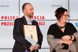 Jan Filipowiak (Pixel Legend), prof. Aneta Zelek  /fot.: Świat Biznesu /