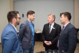 Łukasz Fajt, Artur Ambrożewicz (Vulcan Training Center), Torsten Haasch (IHK Neubrandenburg) i Krystian Stopa (Dom Gospodarki)  /fot.: SG /