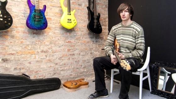 Łukasz Krupa, owner of Bouwer Custom Guitars   /fot.: AK /