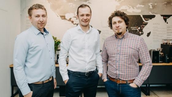 Marcin Gardzielik, Łukasz Wichłacz, Jacek Gardzielik - szefowie Coffeedesk  /fot.: Jakub Jakubicki / mat. Coffeedesk /