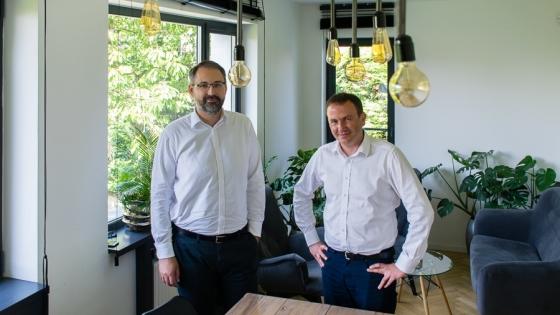 Grzegorz Gawlik i Tomasz Łasecki, menedżerowie  Pomerangels /fot.: mab /