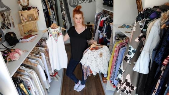 Katarzyna Iszler w fashion trucku Mozaika /fot.: Mat. Archiwum Prywatne Katarzyny Iszler /
