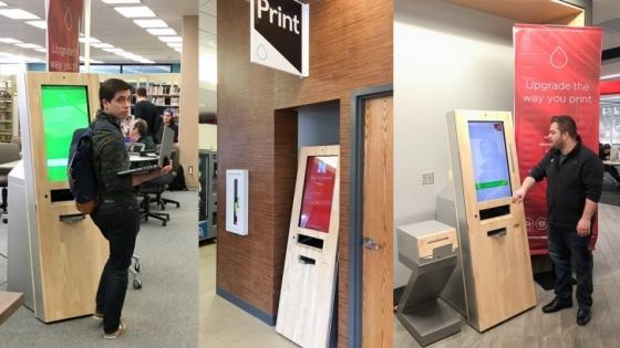 Kioski drukujące na University of Nebraska - Lincoln /fot.: Consileon /